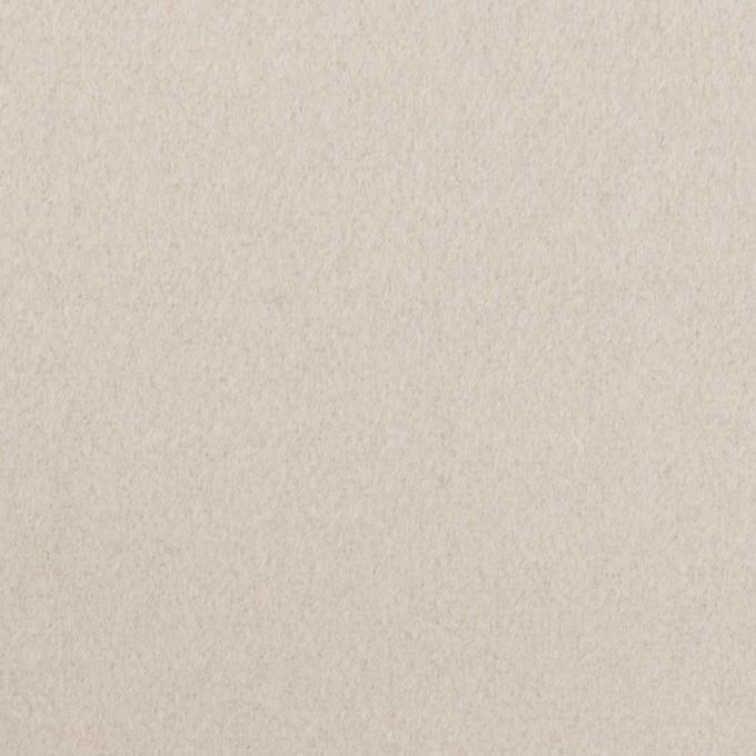 ウール×無地(オイスター)×フラノ(フランネル) イメージ1