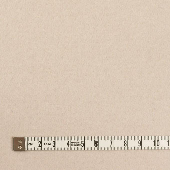 ウール×無地(エクリュベージュ)×フラノ(フランネル) イメージ4