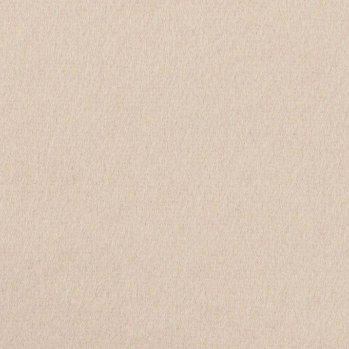 ウール×無地(エクリュベージュ)×フラノ(フランネル) イメージ1