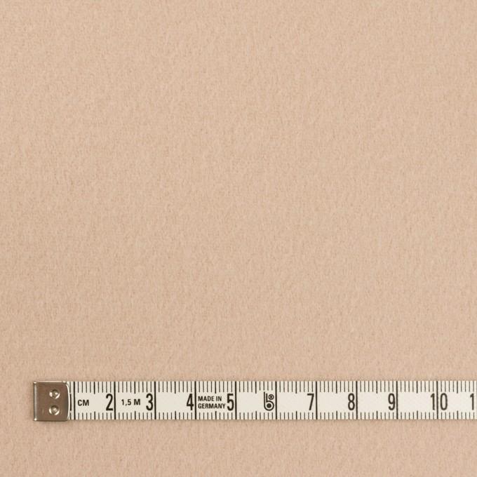 ウール&ナイロン×無地(ベージュ)×ソフトメルトン イメージ4