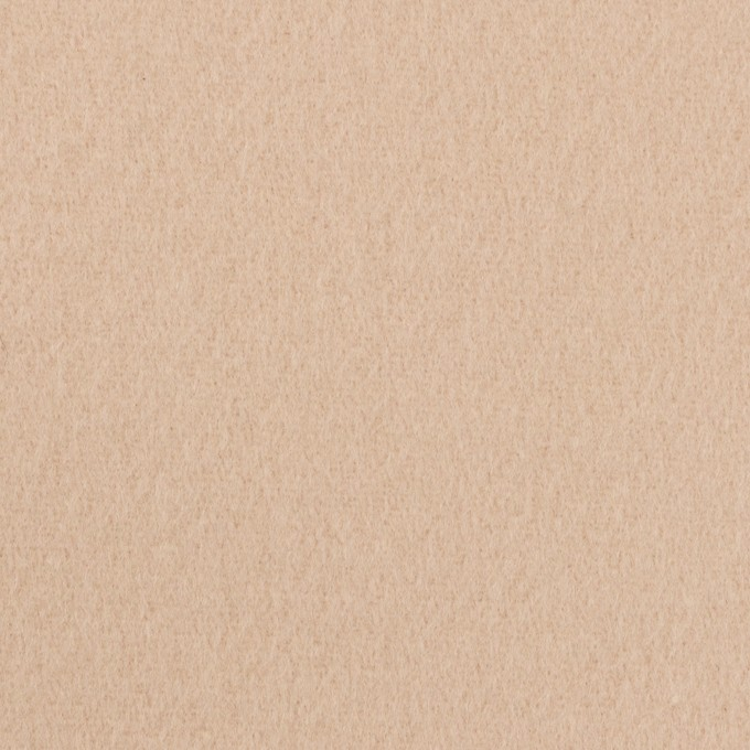 ウール&ナイロン×無地(ベージュ)×ソフトメルトン イメージ1