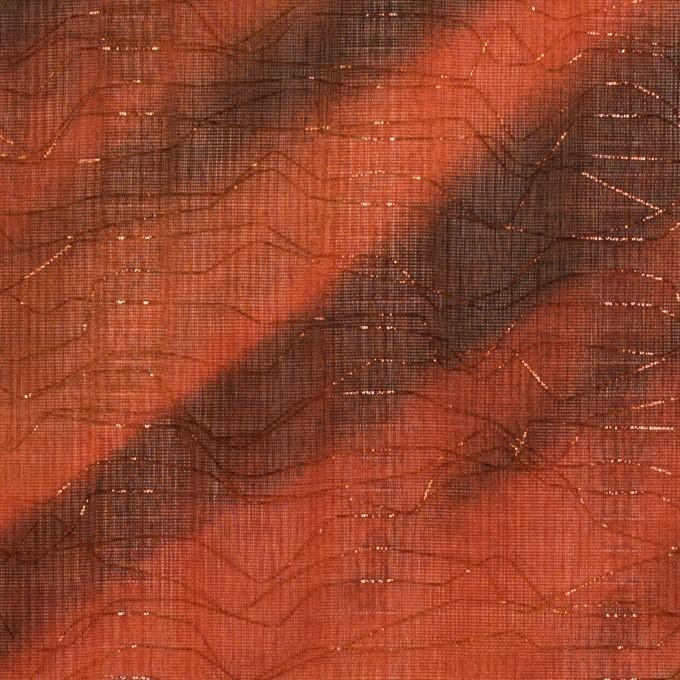 ポリエステル×ペイント(ラスティーオレンジ)×Wシフォン_全2色 イメージ1