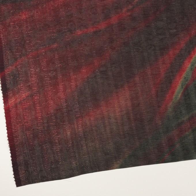 ポリエステル×ペイント(クランベリー)×Wシフォン_全2色 イメージ2