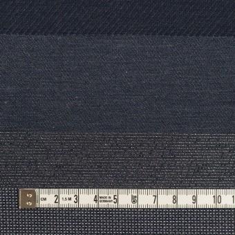 ポリエステル&コットン×ボーダー(アッシュネイビー&シルバー)×ジャガード サムネイル4