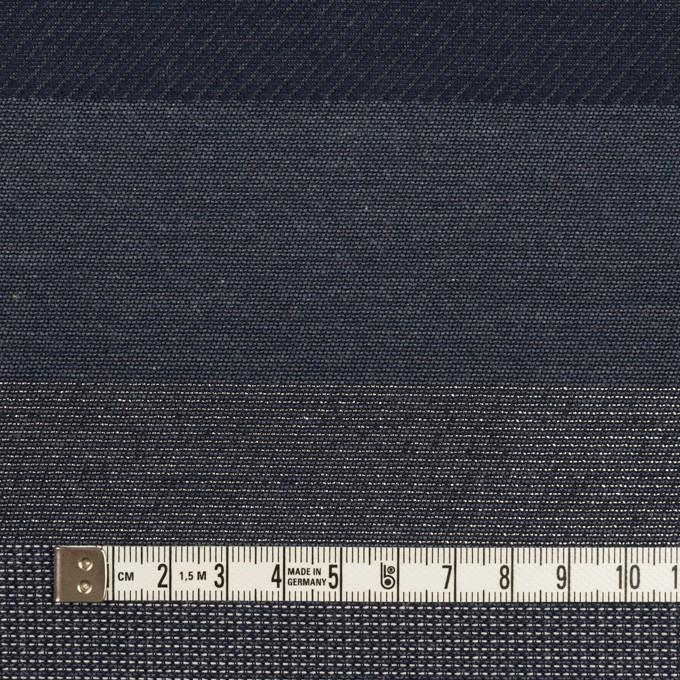 ポリエステル&コットン×ボーダー(アッシュネイビー&シルバー)×ジャガード イメージ4
