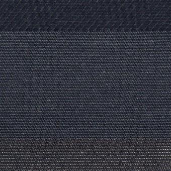 ポリエステル&コットン×ボーダー(アッシュネイビー&シルバー)×ジャガード サムネイル1