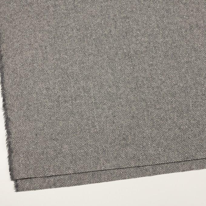 ウール&アンゴラ×ミックス(グレー)×ヘリンボーン_全2色 イメージ2