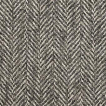 ウール&アンゴラ×ミックス(グレー)×ヘリンボーン_全2色