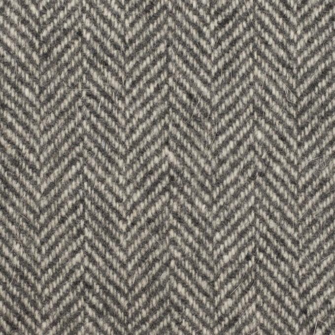 ウール&アンゴラ×ミックス(グレー)×ヘリンボーン_全2色 イメージ1