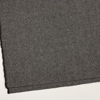 ウール&アンゴラ×ミックス(チャコールグレー)×ヘリンボーン_全2色 サムネイル2