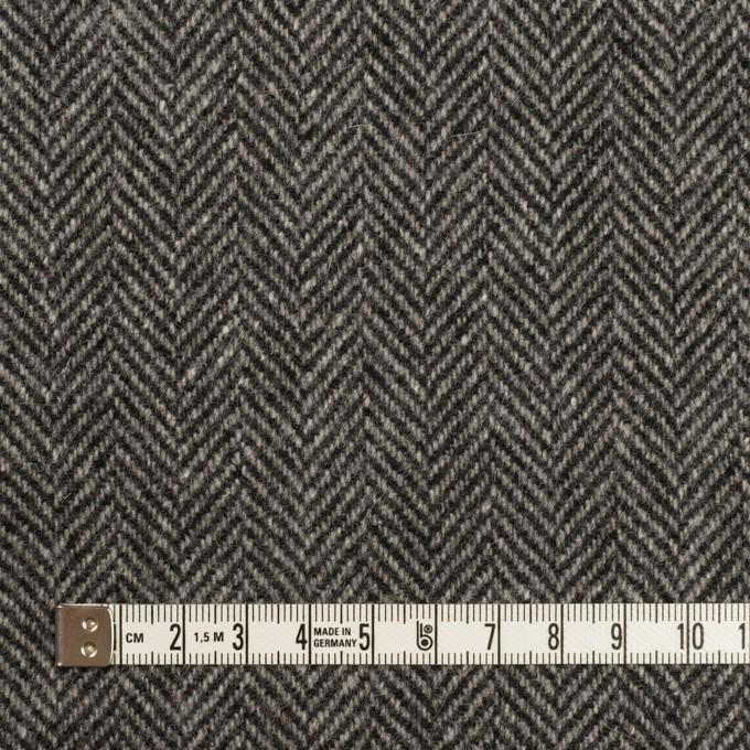 ウール&アンゴラ×ミックス(チャコールグレー)×ヘリンボーン_全2色 イメージ4
