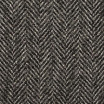 ウール&アンゴラ×ミックス(チャコールグレー)×ヘリンボーン_全2色