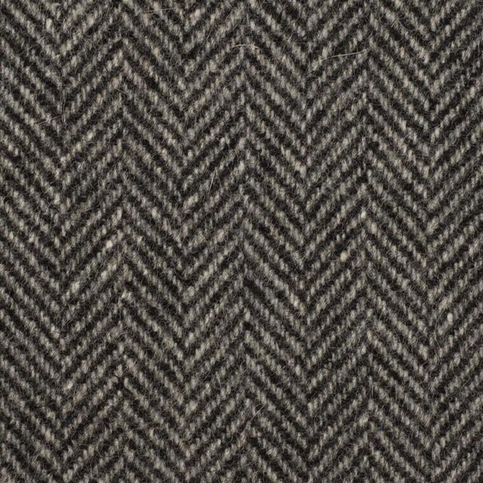 ウール&アンゴラ×ミックス(チャコールグレー)×ヘリンボーン_全2色 イメージ1