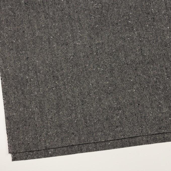 ウール×ミックス(チャコールグレー)×ヘリンボーン イメージ2