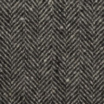 ウール×ミックス(チャコールグレー)×ヘリンボーン サムネイル1