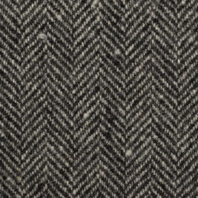 ウール×ミックス(チャコールグレー)×ヘリンボーン イメージ1