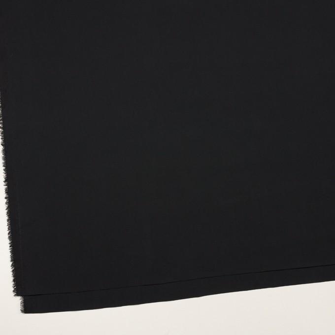 コットン&リヨセル混×無地(ブラック)×ローンストレッチ イメージ2