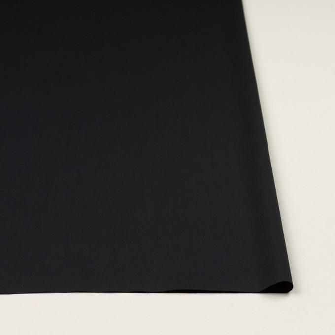 コットン&リヨセル混×無地(ブラック)×ローンストレッチ イメージ3