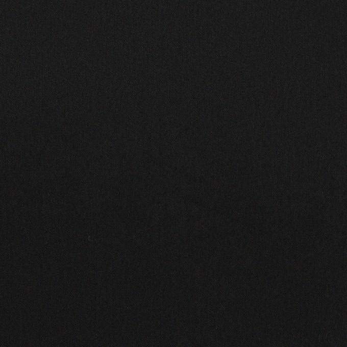 コットン&リヨセル混×無地(ブラック)×ローンストレッチ イメージ1