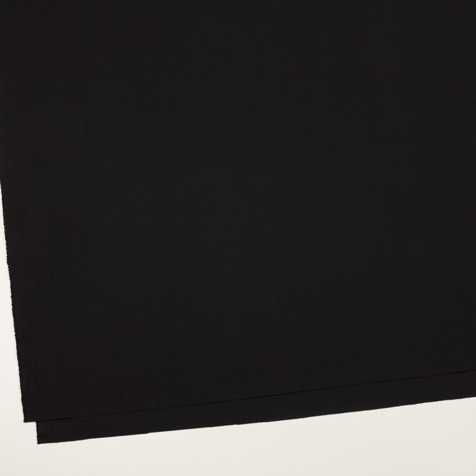 コットン&ポリエステル×無地(ブラック)×ローン イメージ2