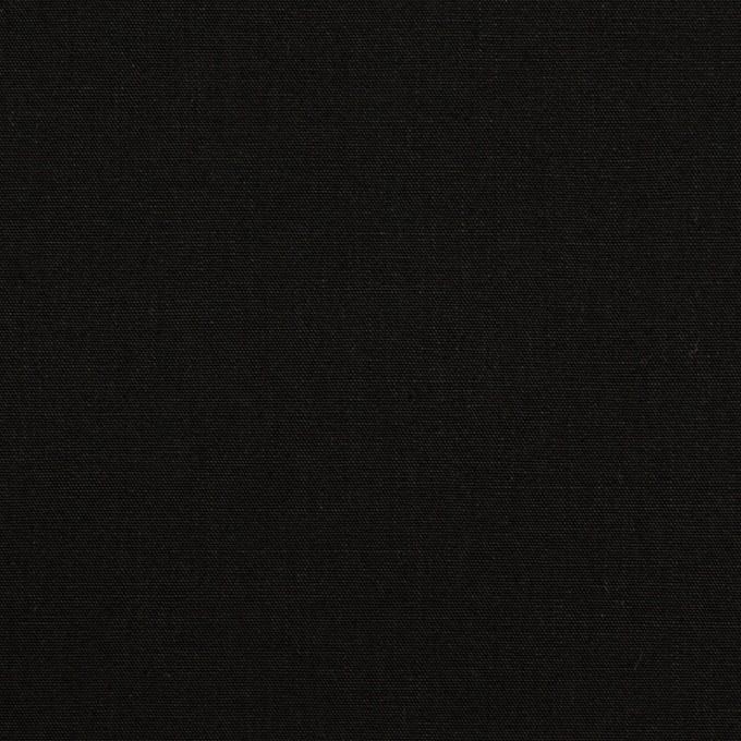 コットン&ナイロン×無地(ブラック)×高密ポプリン イメージ1
