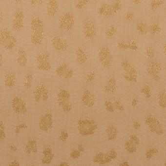 【150cmカット】ポリエステル×レオパード(ゴールド)×ジャガード