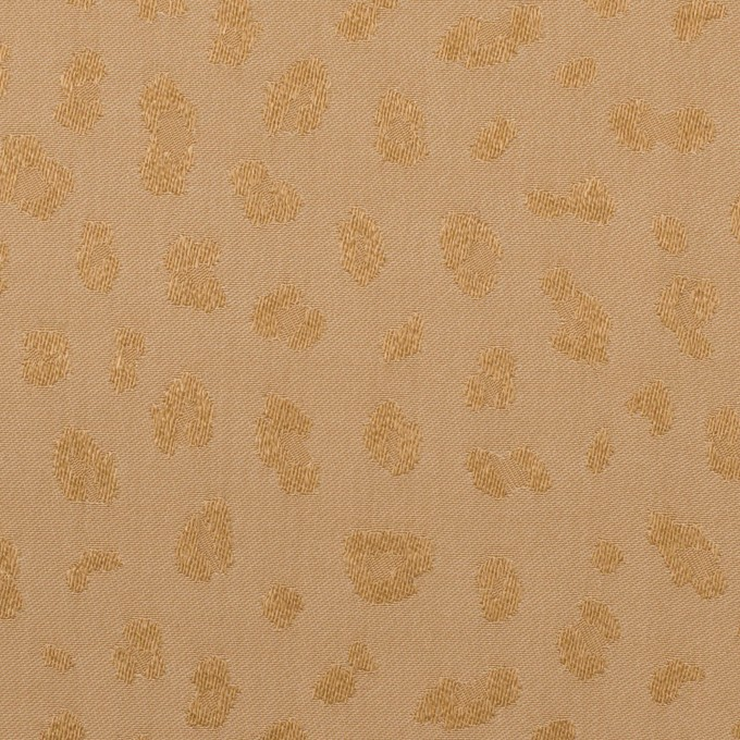 ポリエステル×レオパード(ゴールド)×ジャガード イメージ1