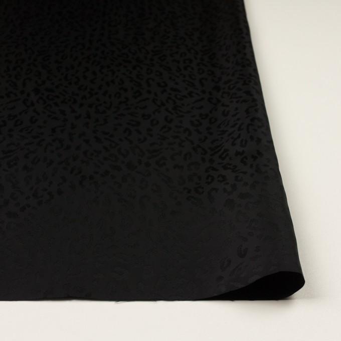 キュプラ×レオパード(ブラック)×ジャガード イメージ3