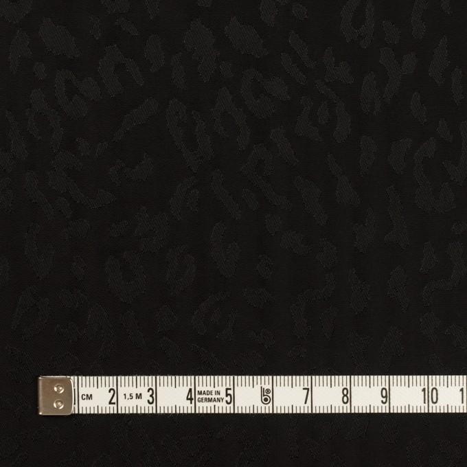キュプラ×レオパード(ブラック)×ジャガード イメージ4