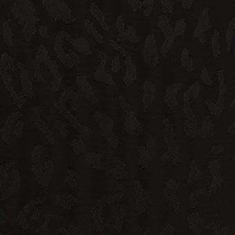キュプラ×レオパード(ブラック)×ジャガード