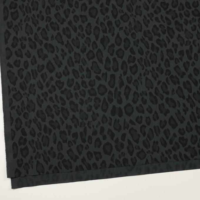 コットン&ナイロン×レオパード(チャコール)×ポプリン イメージ2