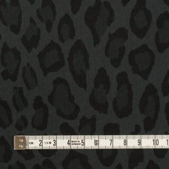コットン&ナイロン×レオパード(チャコール)×ポプリン サムネイル4