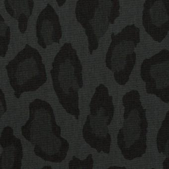 コットン&ナイロン×レオパード(チャコール)×ポプリン