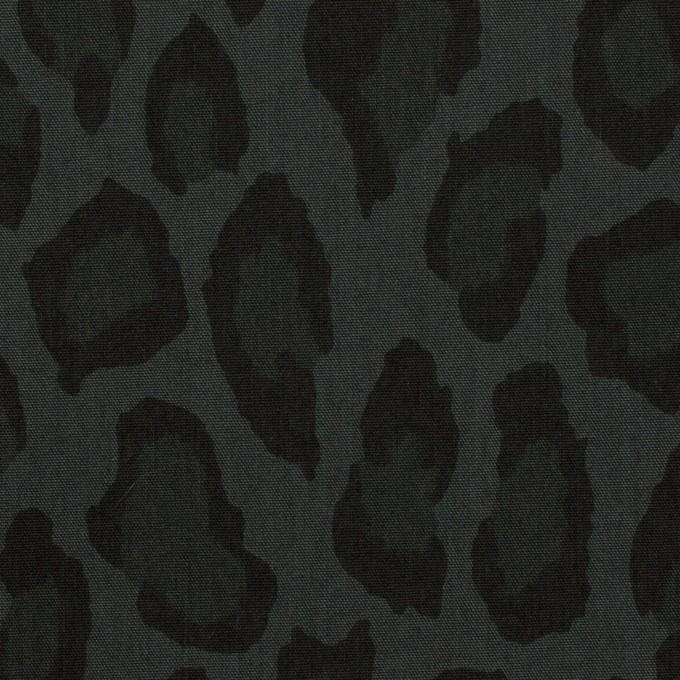 コットン&ナイロン×レオパード(チャコール)×ポプリン イメージ1