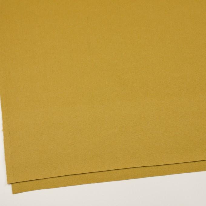 ウール×無地(マスタード)×二重織 イメージ2