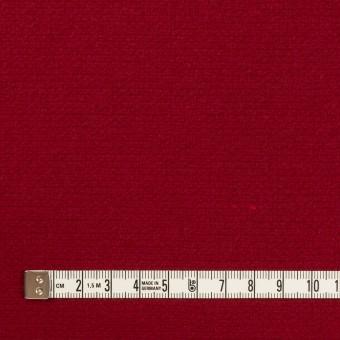 ウール×無地(バーガンディーレッド)×二重織 サムネイル4