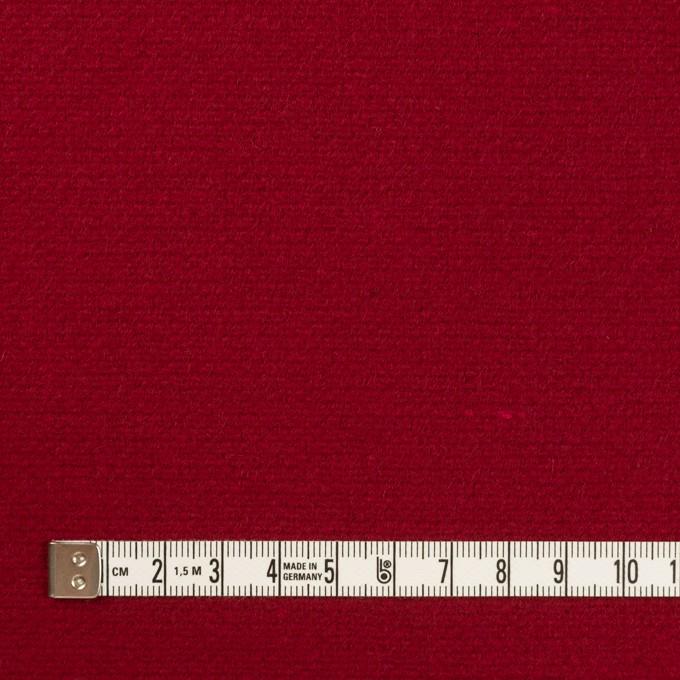 ウール×無地(バーガンディーレッド)×二重織 イメージ4