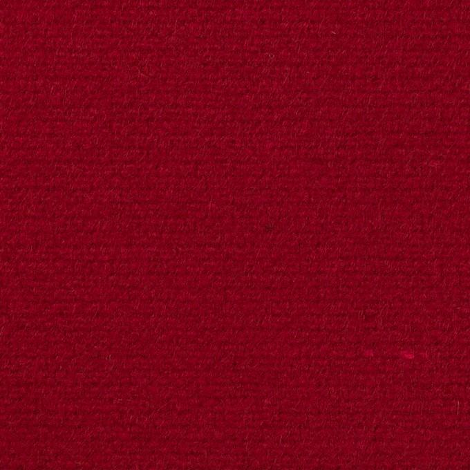 ウール×無地(バーガンディーレッド)×二重織 イメージ1