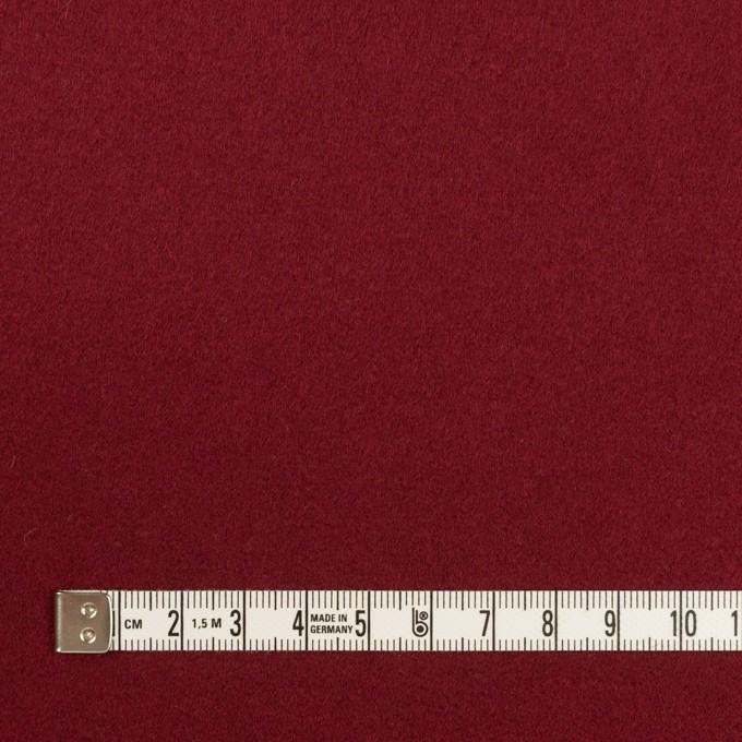 ウール×無地(バーガンディーレッド)×フラノ(フランネル) イメージ4