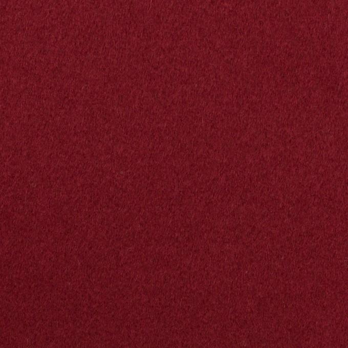 ウール×無地(バーガンディーレッド)×フラノ(フランネル) イメージ1