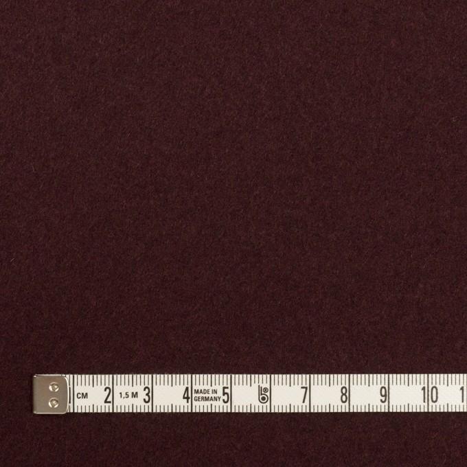 ウール×無地(レーズン)×Wフェイス・フラノ イメージ4