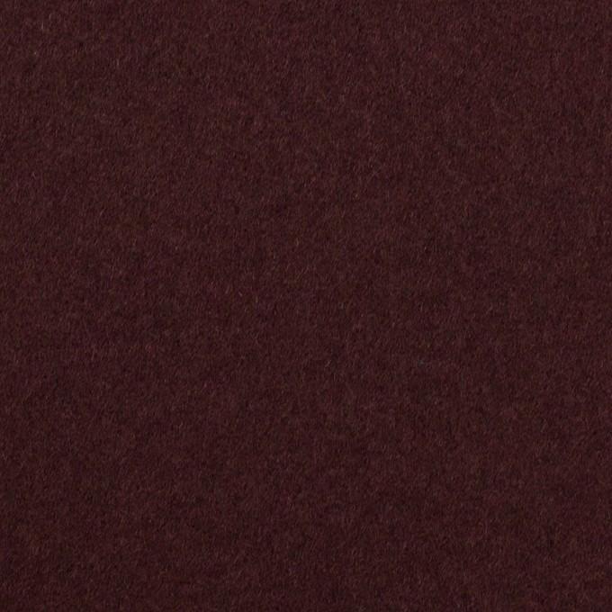 ウール×無地(レーズン)×Wフェイス・フラノ イメージ1