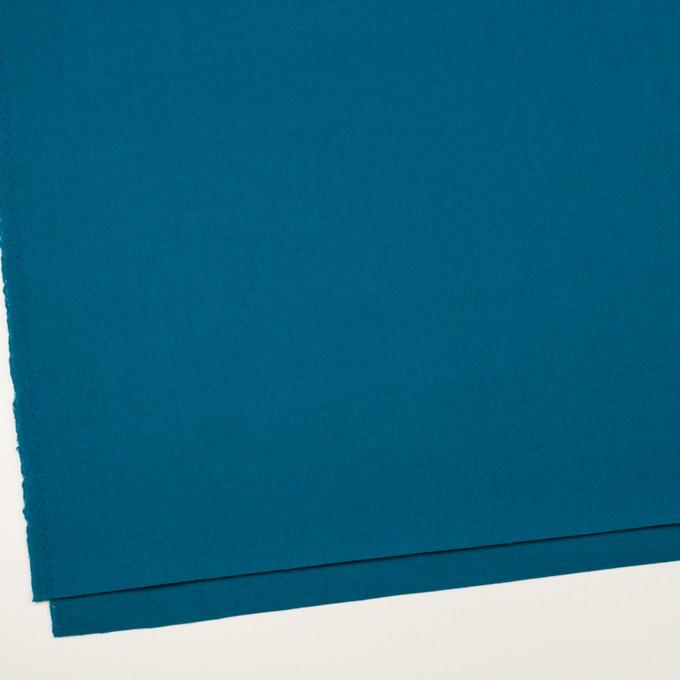 ウール&ナイロン×無地(ターコイズブルー)×フラノ(フランネル) イメージ2