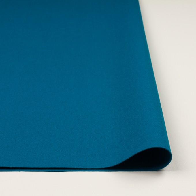 ウール&ナイロン×無地(ターコイズブルー)×フラノ(フランネル) イメージ3