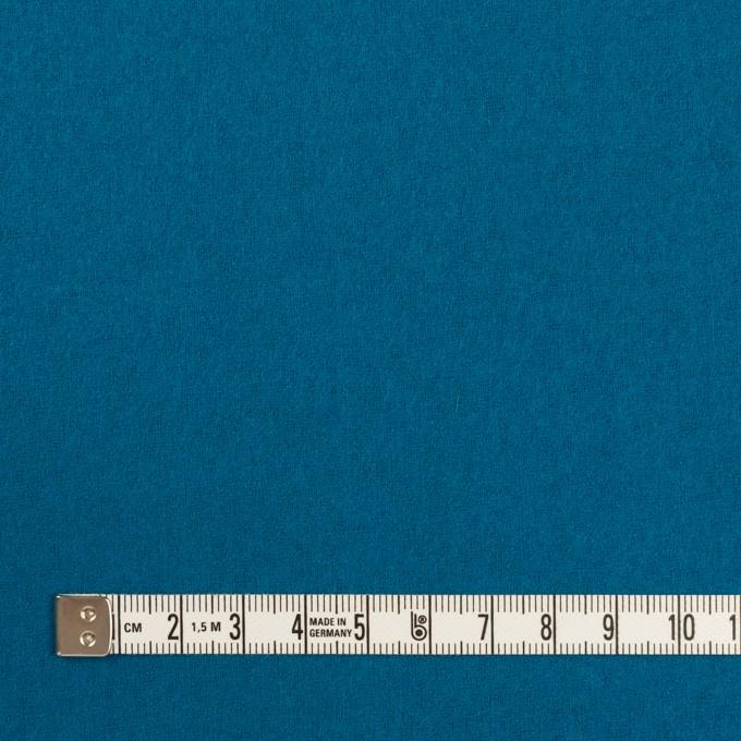 ウール&ナイロン×無地(ターコイズブルー)×フラノ(フランネル) イメージ4