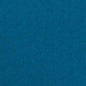 ウール&ナイロン×無地(ターコイズブルー)×フラノ(フランネル)