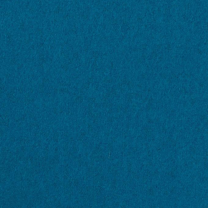 ウール&ナイロン×無地(ターコイズブルー)×フラノ(フランネル) イメージ1