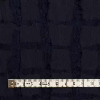 ポリエステル&コットン×チェック(ダークネイビー)×カットジャガードニット サムネイル4