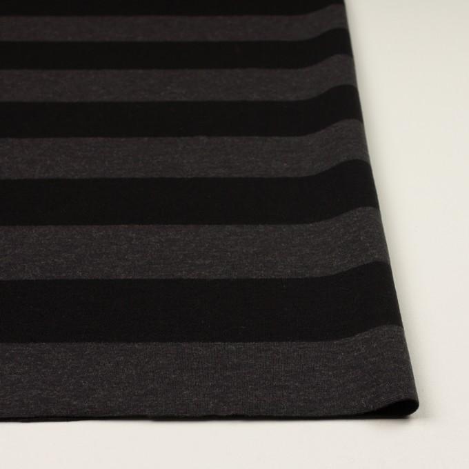 ウール&ナイロン×ボーダー(グレー&ブラック)×Wニット イメージ3
