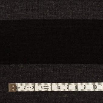 ウール&ナイロン×ボーダー(グレー&ブラック)×Wニット サムネイル4